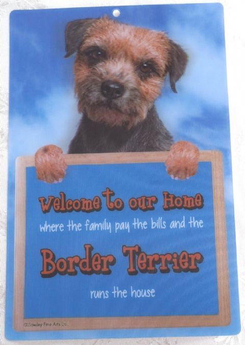 BORDER TERRIER 3D WELCOME SIGN STUNNING EYE CATCHING 23CM X 15CM DURABLE SIGN